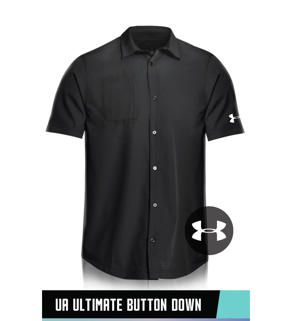 UA ULTIMATE BUTTON DOWN 100% POLYESTER SIZE CHART