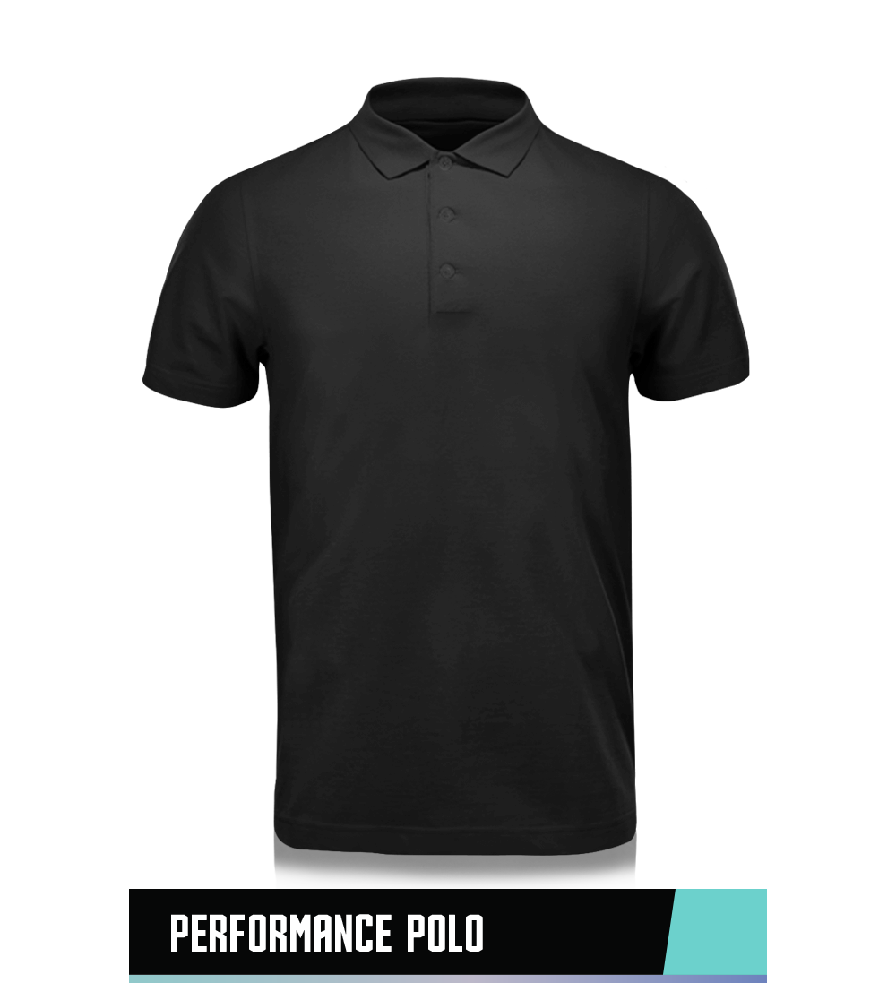 PERFORMANCE POLO 100% POLYESTER SIZE CHART