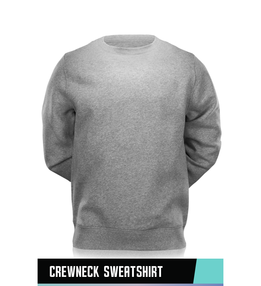 CREWNECK SWEATSHIRT 50% COTTON / 50% POLYESTER SIZE CHART