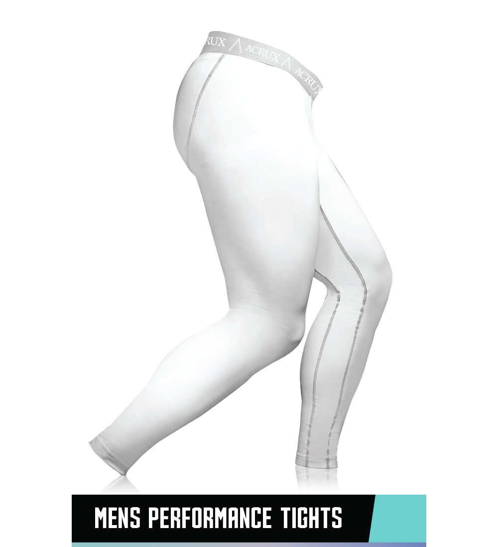 MEN'S PERFORMANCE TIGHTS 94% POLYESTER / 6% SPANDEX SIZE CHART