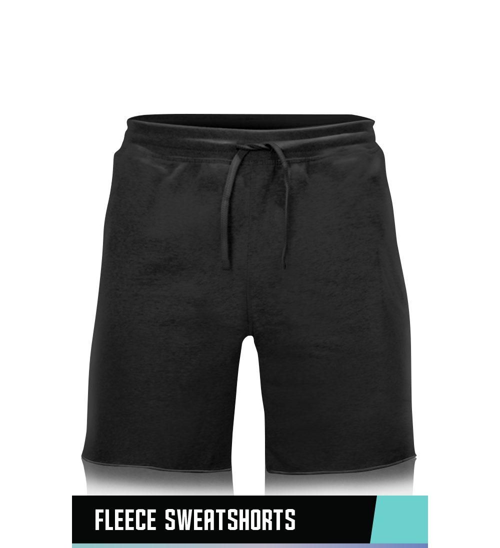 FLEECE SWEATSHORTS  60% COTTON / 40% POLY FLEECE  SIZE CHART