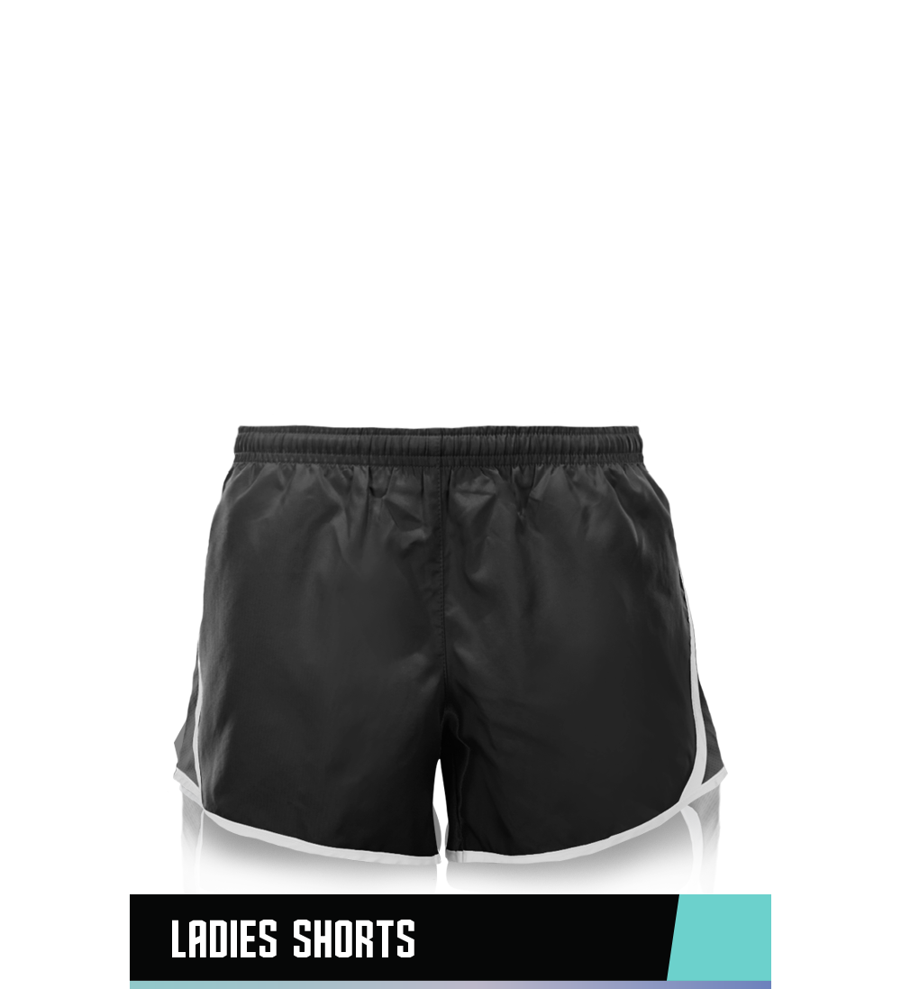 LADIES' SHORTS 100% POLYESTER SIZE CHART
