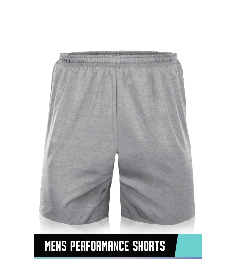 PERFORMANCE SHORTS 100% POLYESTER SIZE CHART