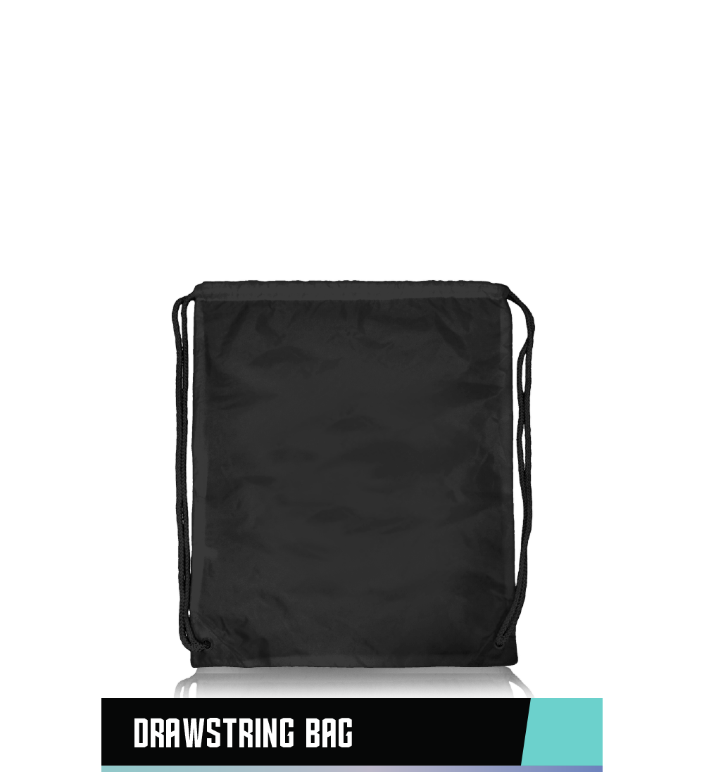 "DRAWSTRING BAG   100% NYLON   20"" x 17"""