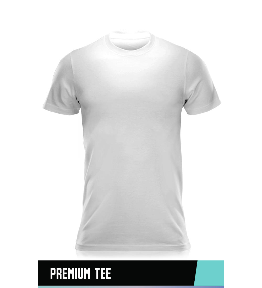 PREMIUM SOFT TEE 60% COTTON 40% POLYESTER SIZE CHART
