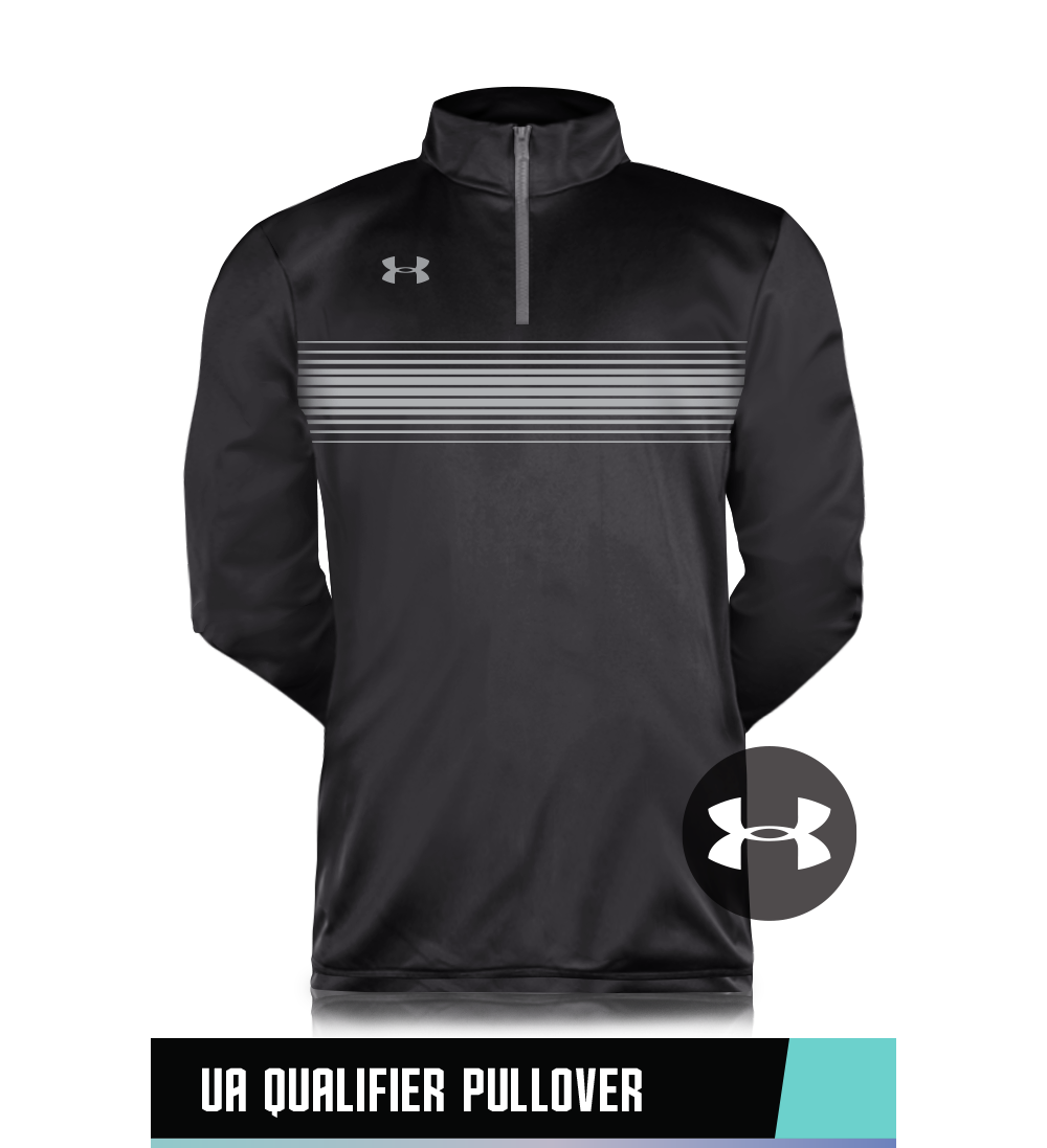 UA QUALIFIER PULLOVER 100% POLYESTER SIZE CHART
