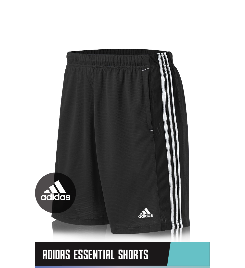 ADIDAS ESSENTIAL SHORTS 100% POLYESTER SIZE CHART
