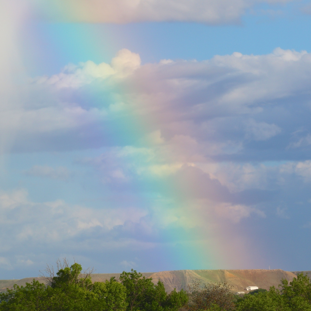 The only opportunity that I had to meet Jordan in person was on May 8th, 2016, as he returned home to Grand Junction after his brain surgery, one month to the day before he died. The minute he was home, this rainbow appeared over Grand Junction. I think angels were guiding Jordan on his way up.