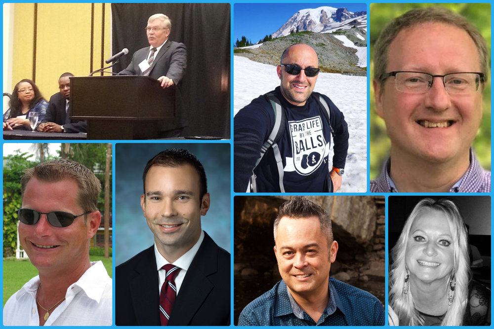 From left to right, top row: Ron Bye, Steve Pake, and Scott Joy. Bottom row left to right: Mike Craycraft, Dr Phillip Pierorazio, MD, Steve Fillmore, and Kim Jones