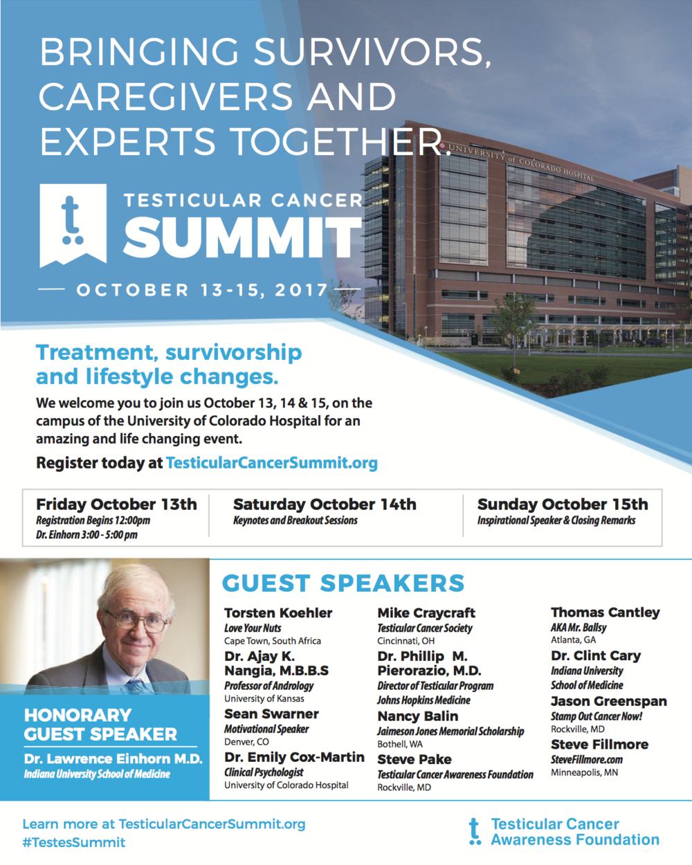 Testicular Cancer Summit Flyer 2017 Web