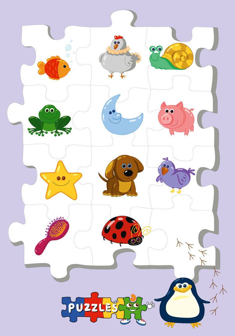"Characters and poster designs for the babies TV series ""Puzzles"". © Baby First TV."