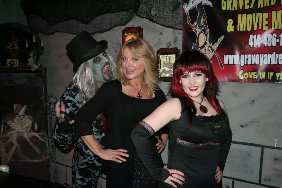 My TV gig with Deadgar Winters & Victoria of Dark Coffin Classics