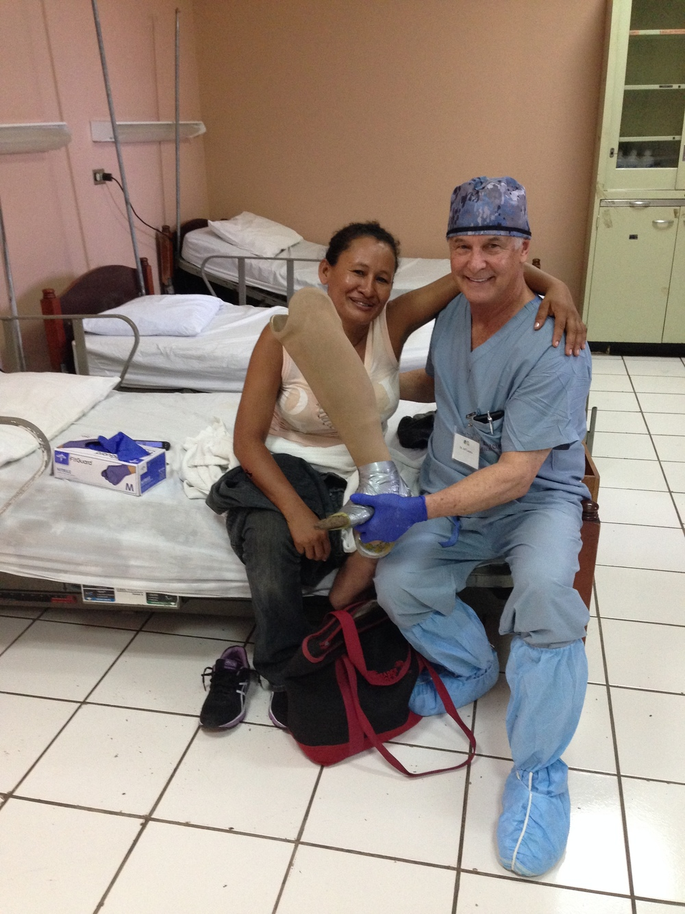 Dr. Jeff Lazarus with a patient he helped in Nicaragua
