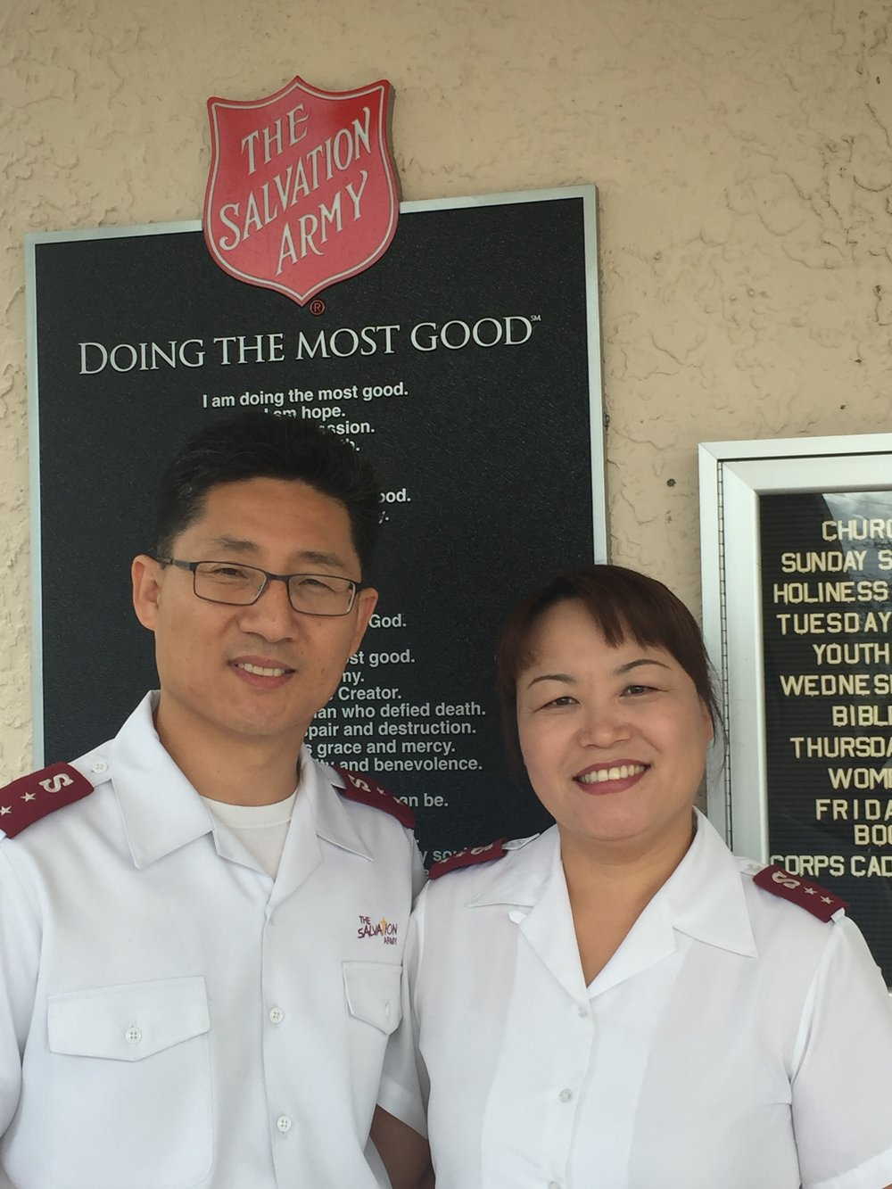 Captains Samuel and Christine Kim--Pastors with The Salvation Army
