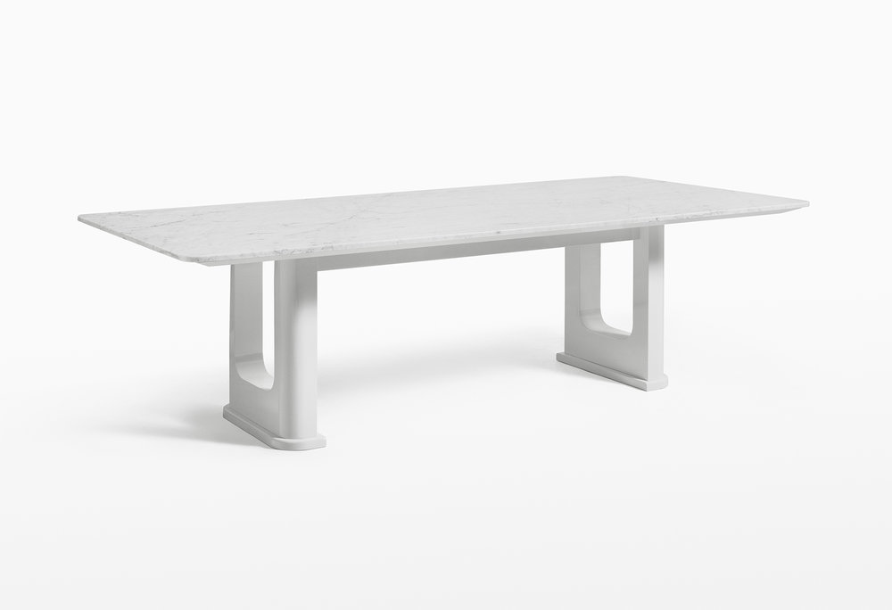 CMS Rift Dining Table Custom White Carrara (1).jpg