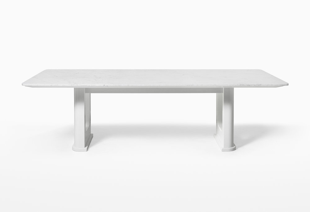 CMS Rift Dining Table Custom White Carrara (2).jpg