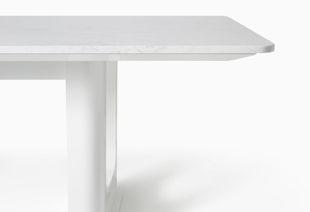 CMS Rift Dining Table Custom White Carrara (4).jpg