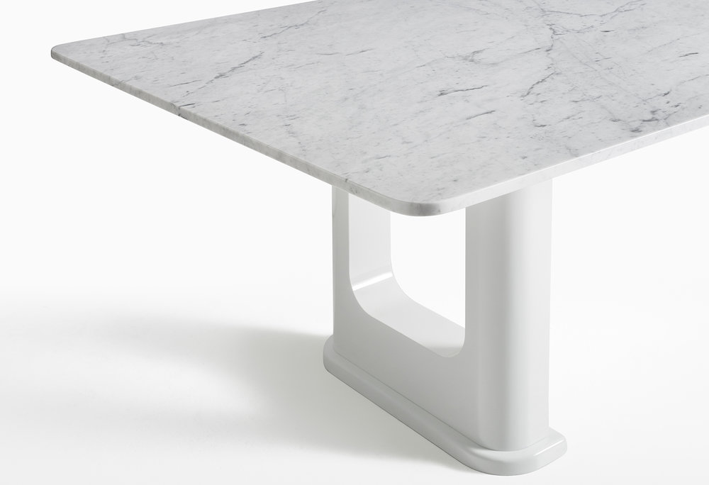 CMS Rift Dining Table Custom White Carrara (3).jpg