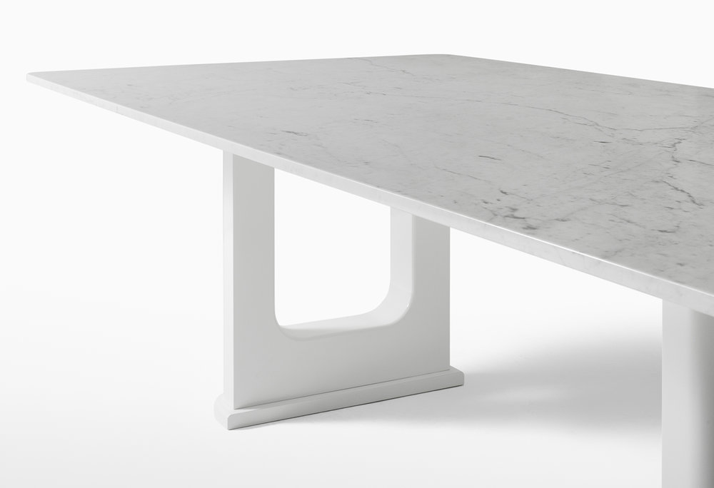 CMS Rift Dining Table Custom White Carrara (6).jpg
