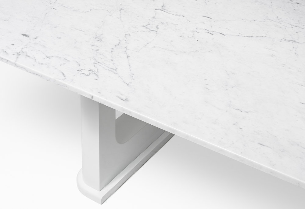 CMS Rift Dining Table Custom White Carrara (5).jpg