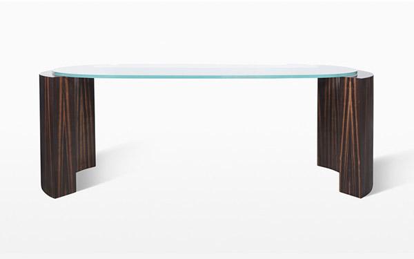 Custom Bronze and Ebony Desk