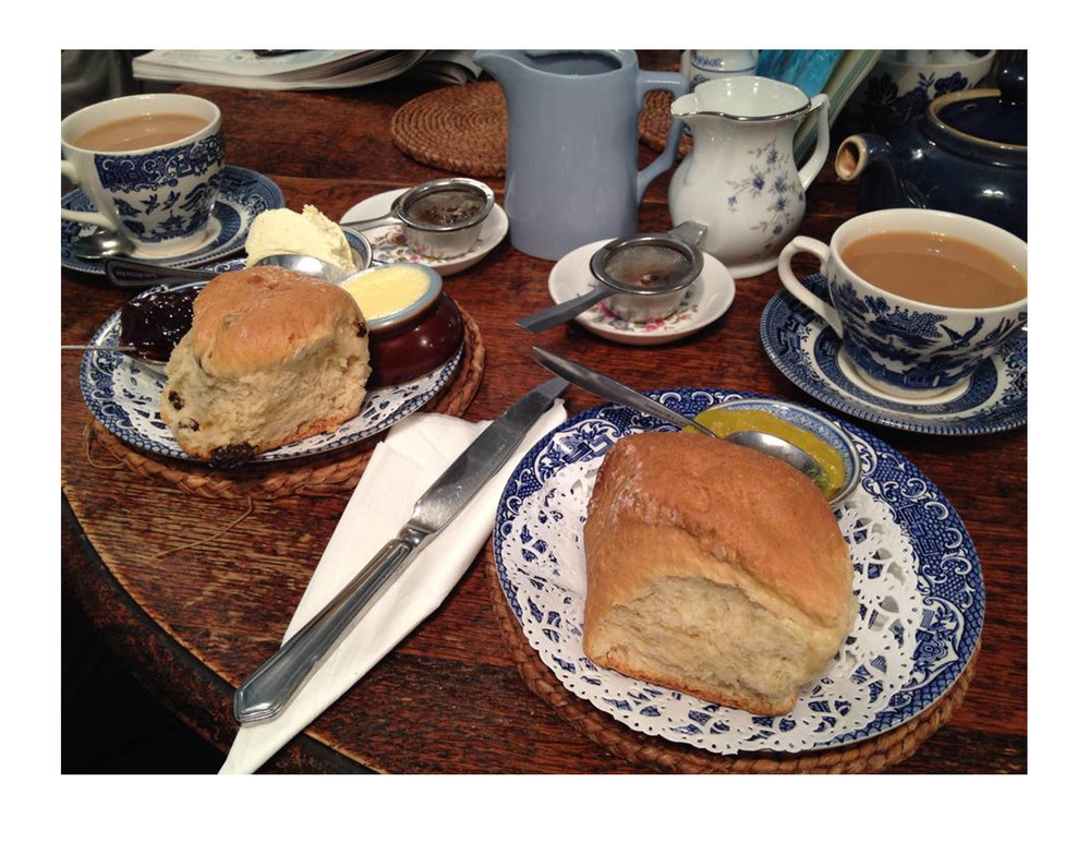 Tea and scones at the Mock Turtle - no weekend is complete without this British tradition