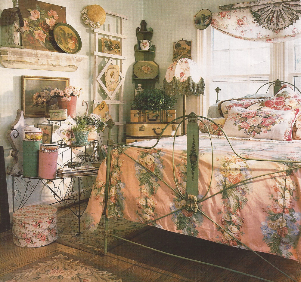 Beautiful rose interiors by Home and Antiques magazine