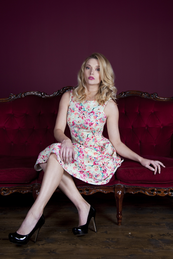 Shattered rose print prom dress by Whistle & Wolf £70