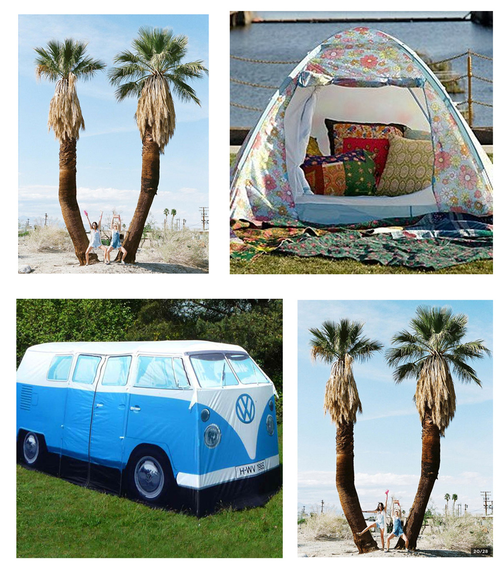 Beautiful tents, a  floral retreat  and a  camper van  look a like!