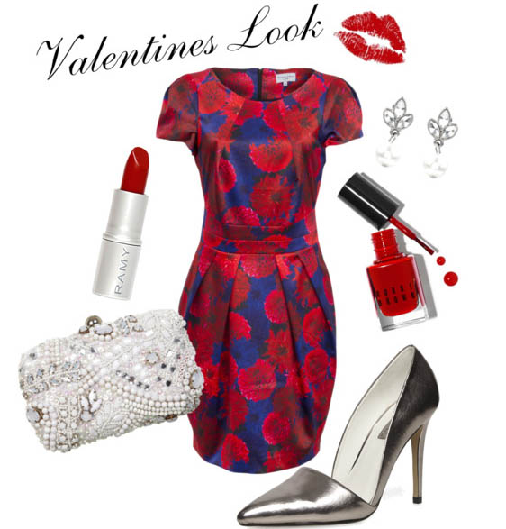 SHOP THE LOOK:    Wolf & Whistle Dress ,  Dorothy Perkins Heels ,  Miss Selfridge Clutch Bag ,  Bobbi Brown Nail Varnish ,  Ramy Lipstick ,  Accessorize  ear-rings .