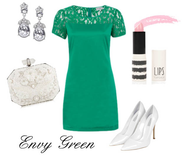 SHOP THE LOOK   Wolf & Whistle Dress ,  Shoes ,  Ear-rings ,  Clutch Bag ,  Lipstick