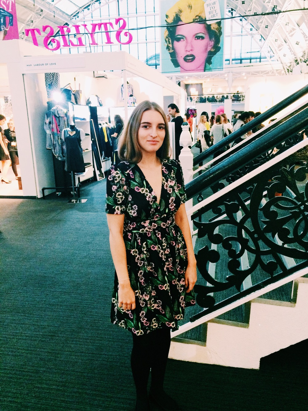 Jessica wears Wolf & Whistle  Mexican Floral Dress.