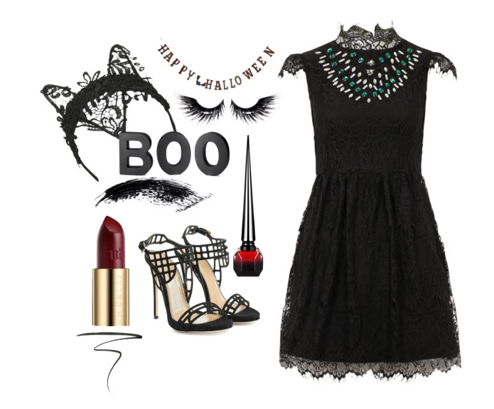 Dress:  Wolf & Whistle  Hairband:  Topshop  Shoes:  Dsquared   Necklace:  Louboutin
