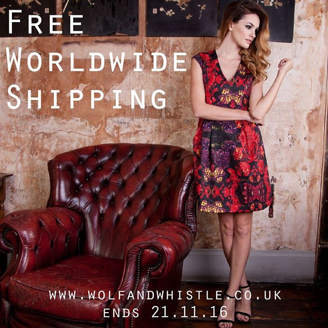 Monday treats! We're giving you free worldwide shipping all week! That's a saving of up to £15!  Ends 21st Nov, head to wolfandwhistle.co.uk to shop!