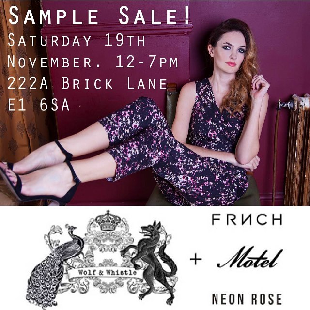 @seekandstyleagency are having a #samplesale this Saturday (19th Nov). 12-7pm at 222A Brick Lane, London.