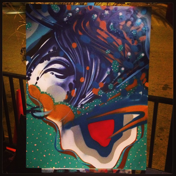 The final collaborative painting from the night. It was done by Revise CMW, Ruben Aguirre, Nathan West and myself.