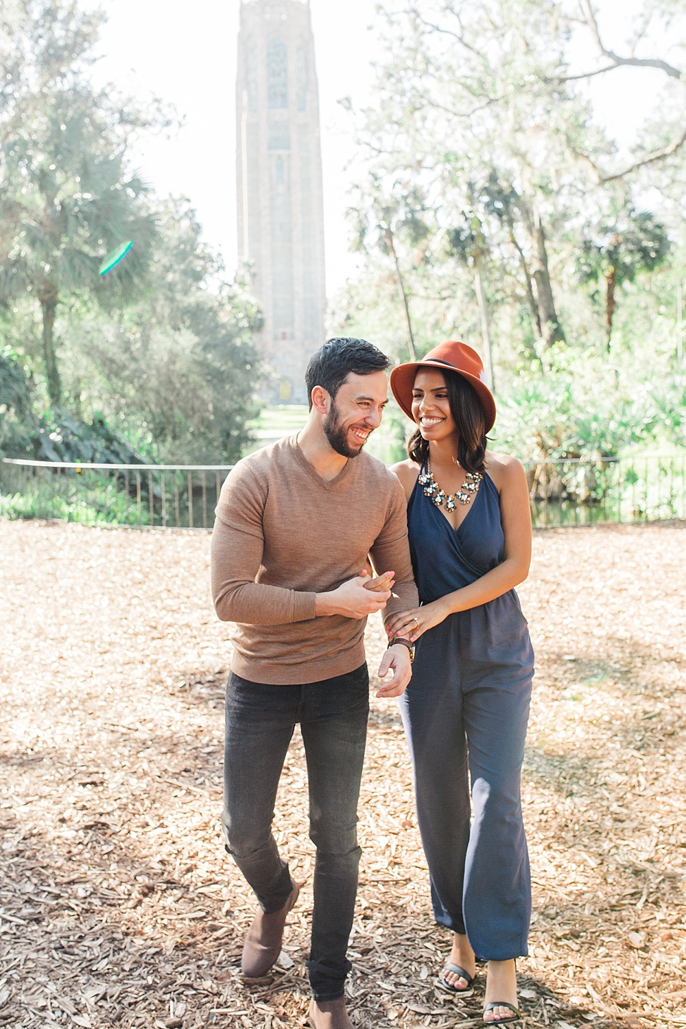 Janiece + Chris | The Sweetest Bok Tower Gardens Engagement Session | Florida Film Photographer