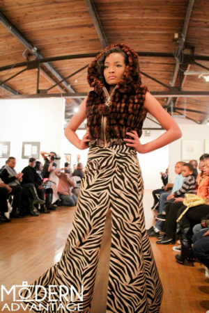 This photo was taking at The INspire Movement Fashion Show held at the Buckham Gallery in Flint, MI