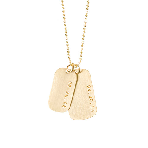 """2"" Date Dog Tag Necklace"