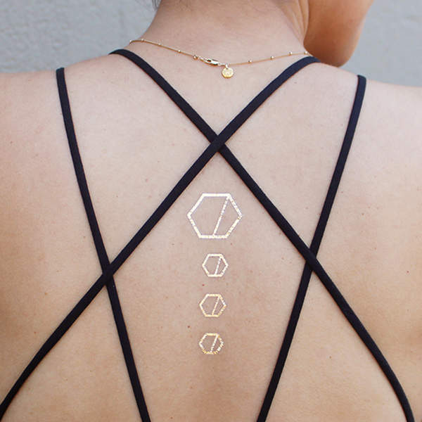 Custom Hexagon Tattoo