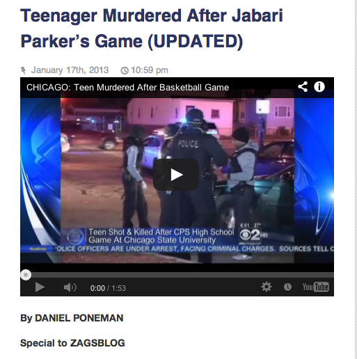 ZagsBlog: Daniel Poneman on the Morgan Park-Simeon Shooting