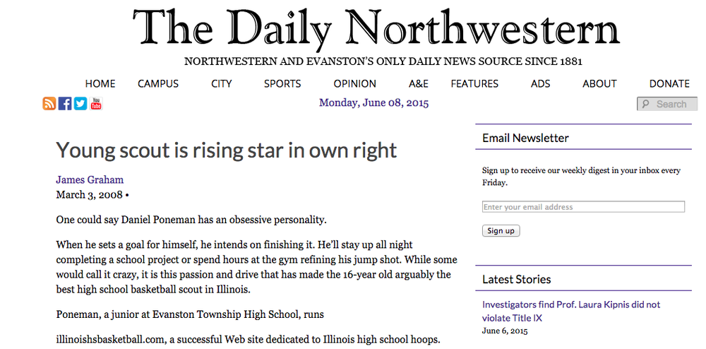 Daniel Poneman - The Daily Northwestern