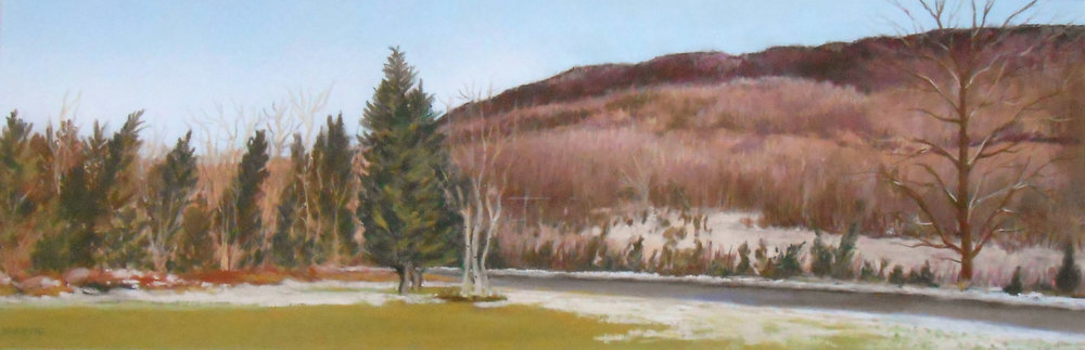 Meriden Mountain  — Framed Pastel: $500