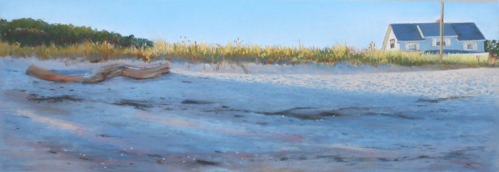 Late Afternoon Beach, Point O Woods, Old Lyme, CT, Pastel: $600
