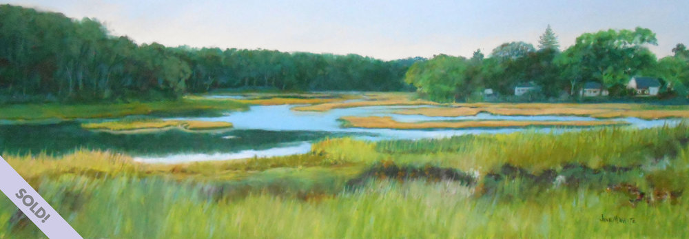 Point 'O' Woods Marsh, Old Lyme, CT— Pastel