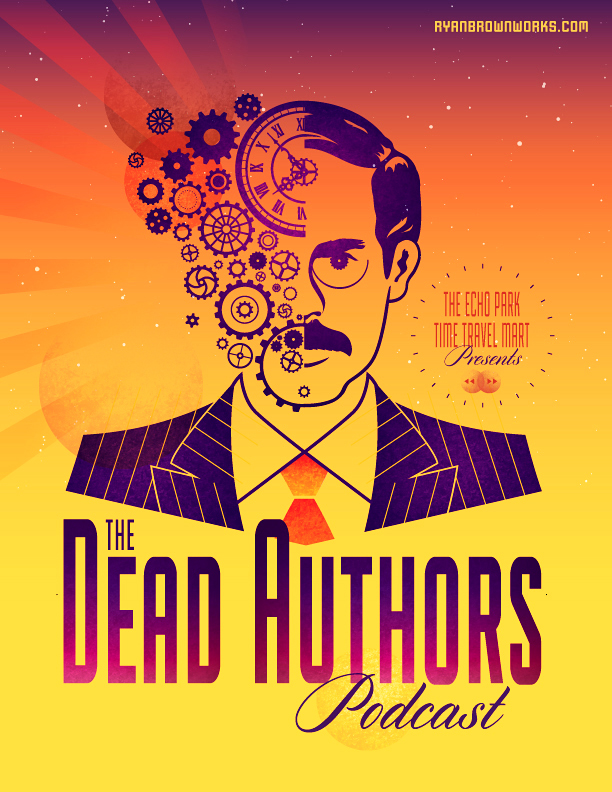 The Dead Authors Podcast Illustration by Ryan Brown