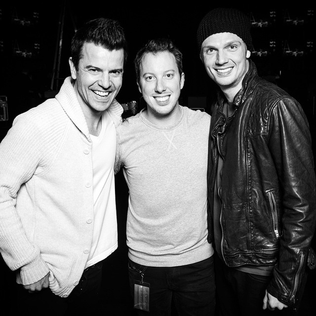 Brian with Jordan Knight & Nick Carter