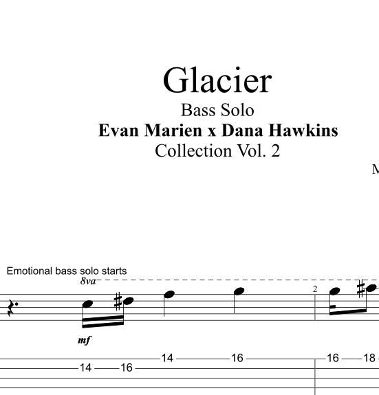 Glacier Bass Solo Transcription Lead Sheet Minus Bass Playalong Evan Marien