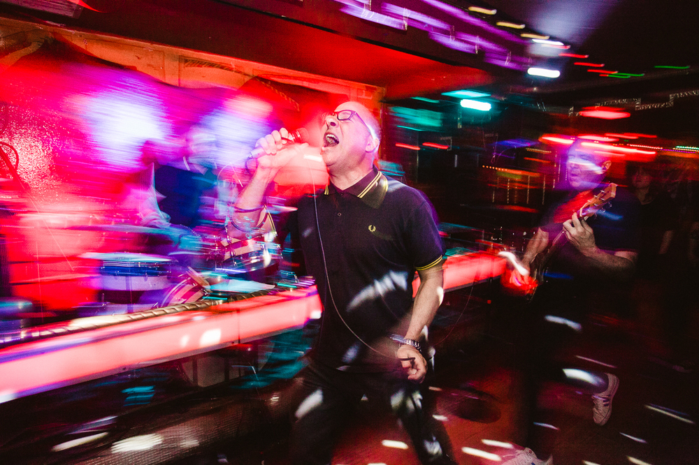 """Hard Left's record release show at La Cita (with Punky Reggae Party) for debut record """"We Are Hard Left""""."""