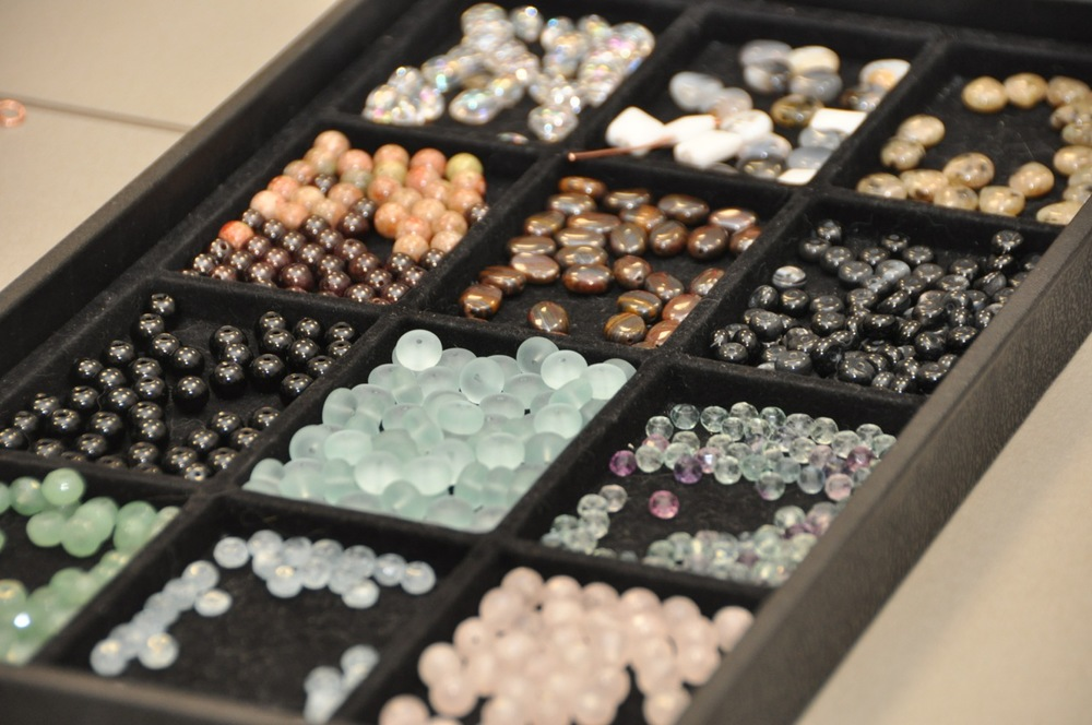A selection of beads and stones